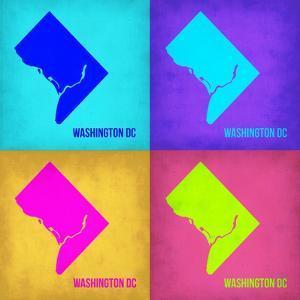 Washington DC Pop Art Map 1 by NaxArt