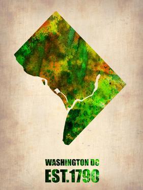 Washington Dc Watercolor Map by NaxArt