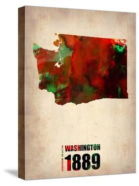 Washington Watercolor Map by NaxArt