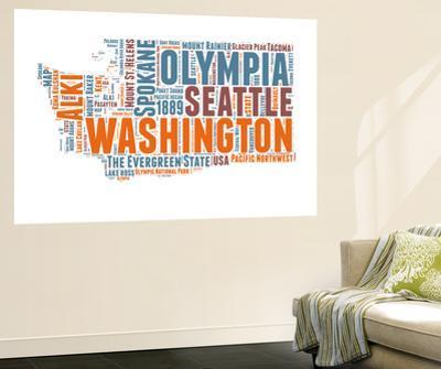 Washington Word Cloud Map by NaxArt