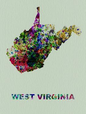 West Virginia Color Splatter Map by NaxArt