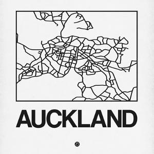 White Map of Auckland by NaxArt