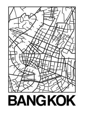 White Map of Bangkok by NaxArt