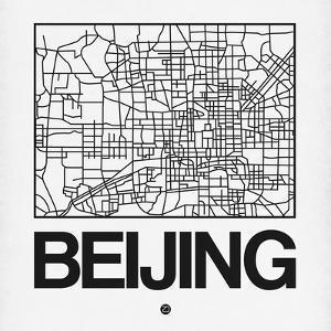 White Map of Beijing by NaxArt