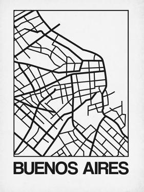 White Map of Buenos Aires by NaxArt