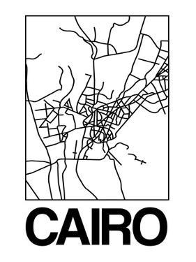 White Map of Cairo by NaxArt