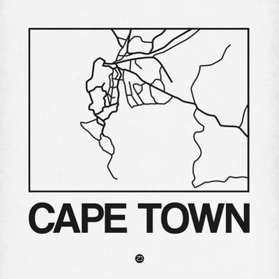 White Map of Cape Town by NaxArt
