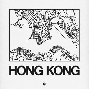 White Map of Hong Kong by NaxArt