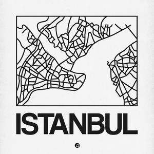 White Map of Istanbul by NaxArt