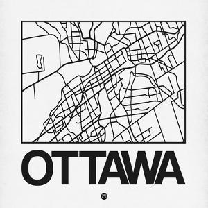 White Map of Ottawa by NaxArt