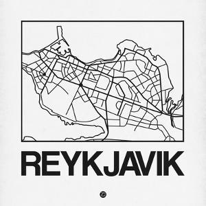 White Map of Reykjavik by NaxArt
