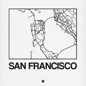 White Map of San Francisco by NaxArt