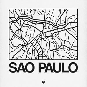 White Map of Sao Paulo by NaxArt