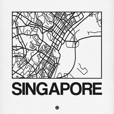 White Map of Singapore