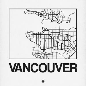 White Map of Vancouver by NaxArt