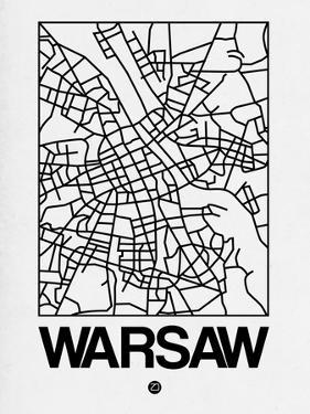 White Map of Warsaw by NaxArt