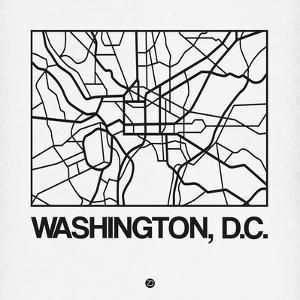White Map of Washington, D.C. by NaxArt