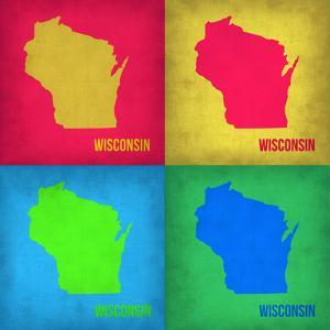 Wisconsin Pop Art Map 1 by NaxArt