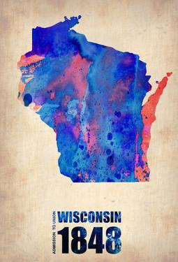 Wisconsin Watercolor Map by NaxArt