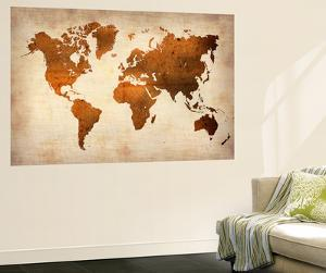 Map wall murals posters at allposters world map 7naxart gumiabroncs Choice Image