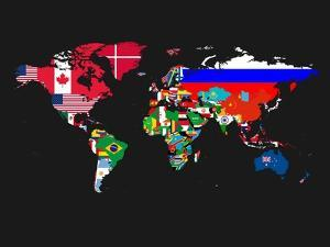 World Map Contry Flags 1 by NaxArt