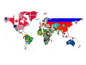 World Map Contry Flags 2 by NaxArt