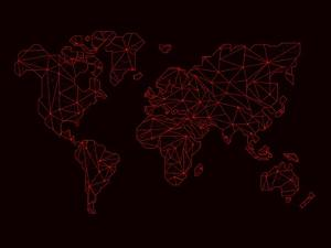 World Map Red by NaxArt