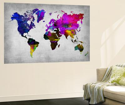 World Watercolor Map 13 by NaxArt