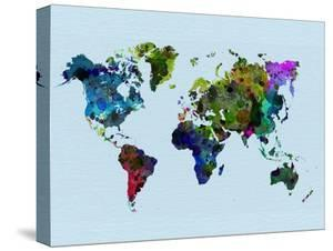 World Watercolor Map 3 by NaxArt