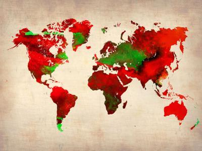 World Watercolor Map 4 by NaxArt