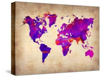 World Watercolor Map 5 by NaxArt