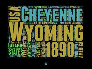 Wyoming Word Cloud 1 by NaxArt