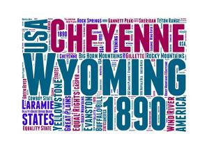 Wyoming Word Cloud Map by NaxArt