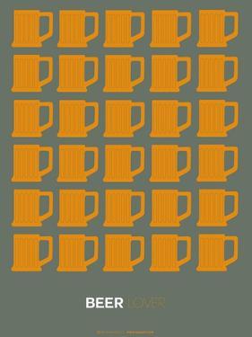 Yellow Beer Mugs Poster by NaxArt