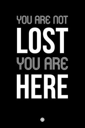 You are Not Lost Black by NaxArt