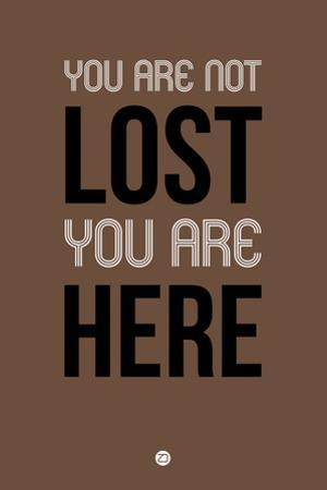 You are Not Lost Brown by NaxArt