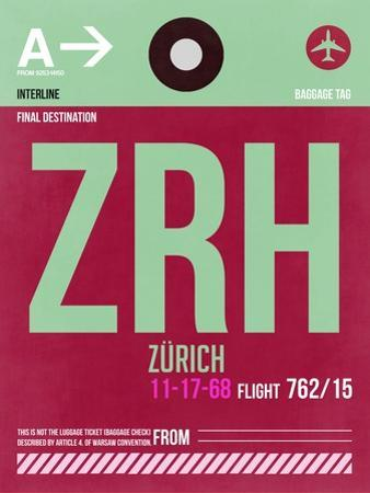 ZRH Zurich Luggage Tag 2 by NaxArt