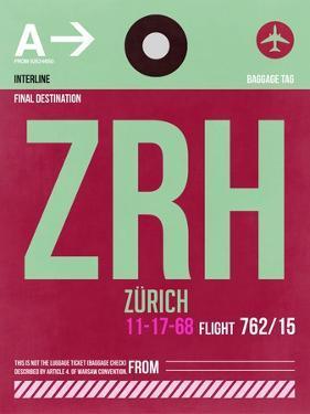 ZRH Zurich Luggage Tag 2 by NaxArt