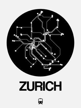 Zurich Black Subway Map by NaxArt