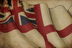 British Naval Flag Old Paper by nazlisart