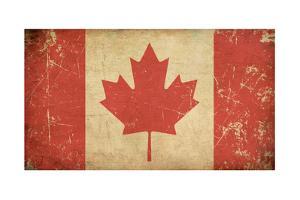Canadian Aged Flat Flag by nazlisart
