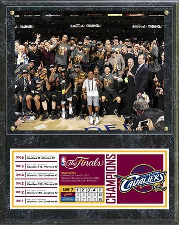 NBA Cleveland Cavaliers 2016 NBA Champions Celebration Down Plaque