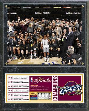 NBA Cleveland Cavaliers 2016 NBA Champions Celebration Down Plaque