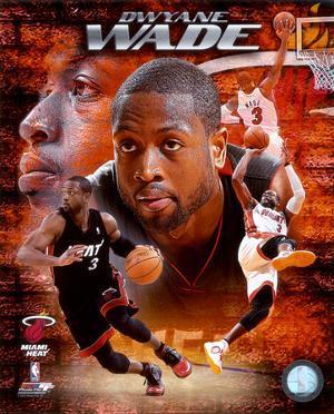 NBA Dwayne Wade 2010 Portrait Plus