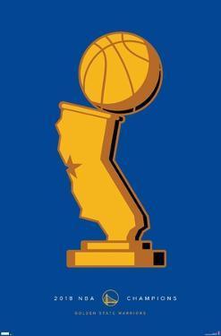 NBA Golden State Warriors - S. Preston Minimalist NBA Champions 2017