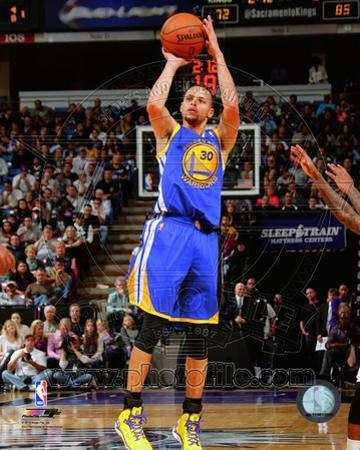 NBA Golden State Warriors Stephen Curry 2013-14 Action