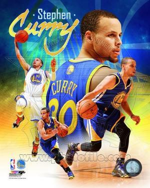 NBA Golden State Warriors Stephen Curry 2014 Portrait Plus