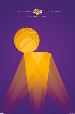 NBA Los Angeles Lakers - S. Preston Minimalist Champions 2020