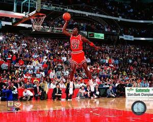 NBA Michael Jordan 1988 NBA Slam Dunk Contest Action