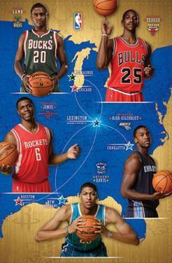 NBA Rookies 2012-13 - Lamb, Teague, Kidd-Gilchrist, Davis, Jones